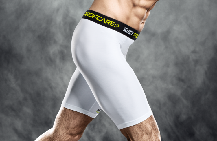 6402 Compression Shorts - White