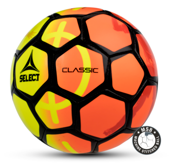 Classic football - yellow-orange