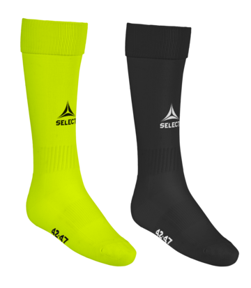 Football socks Elite - black and neonyellow